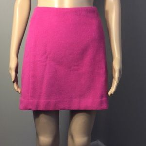 THE LIMITED VIBRANT-PINK LINED MINI SKIRT